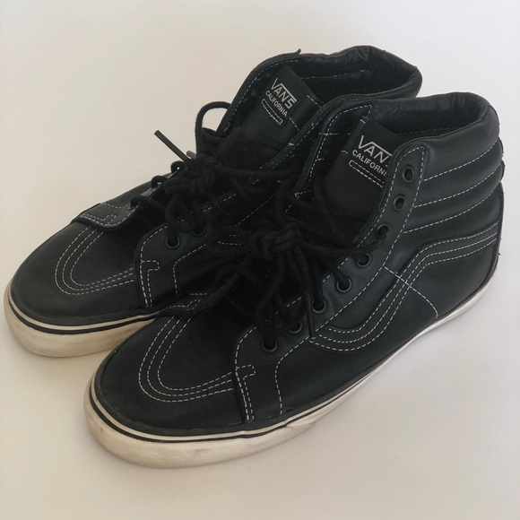 finest selection 2afea ad44b Men's vintage vans California leather sk8 hi black